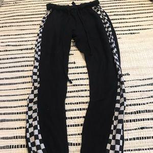 Checkered Jogger Sweatpants